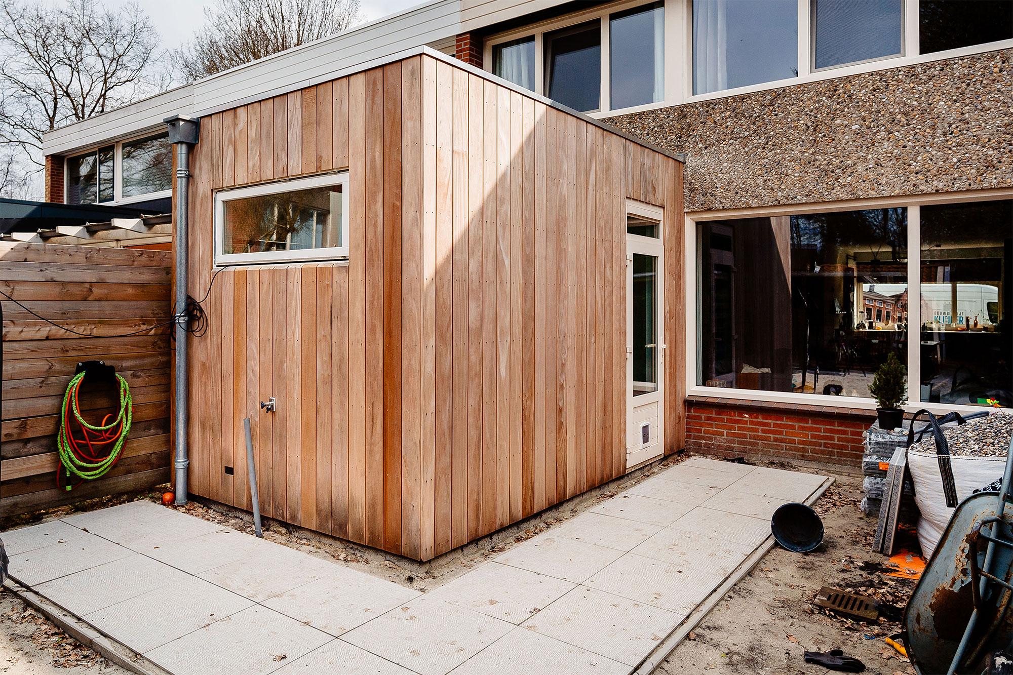 Nieuwbouw houtskelet aanbouw